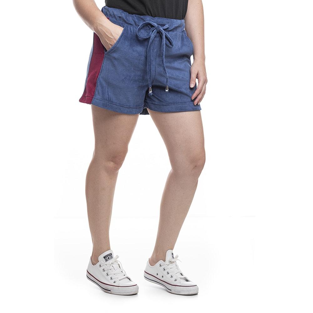 shorts feminino plush azul