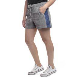 shorts feminino plush cinza